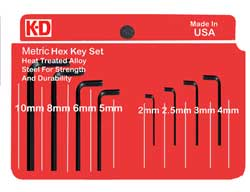 K-D Metric Hex Key Set