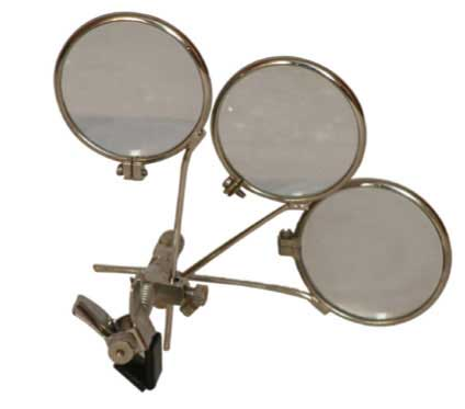 jewelers eye loupe for glasses three 3x lenses