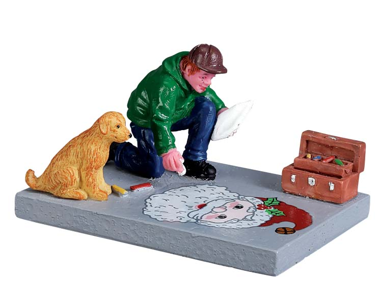 Lemax Village Collection Sidewalk Chalk Artist # 72499