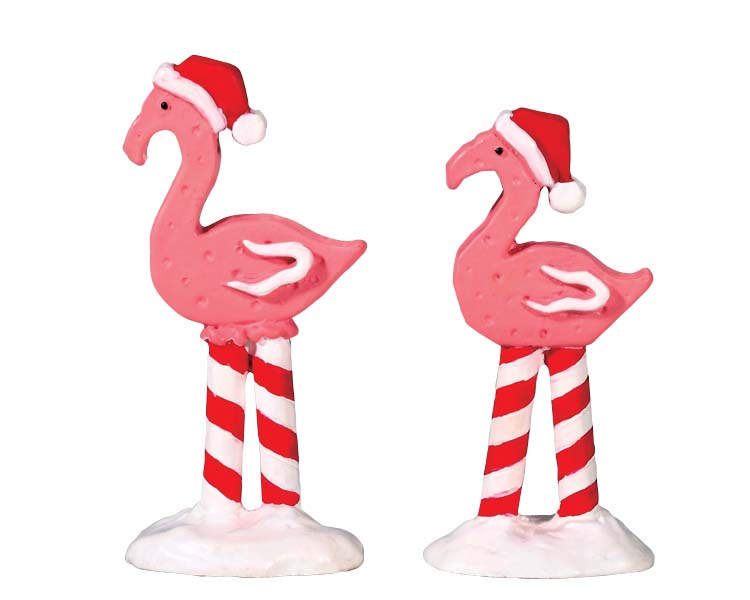 Lemax Village Collection Pink Flamingos Set of 2 # 74209