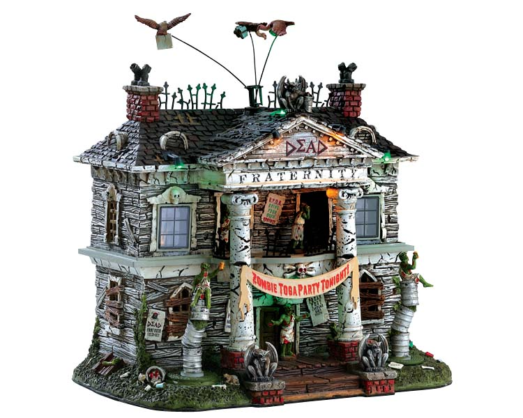 Lemax Spooky Town Dead Fraternity with Adaptor # 75171