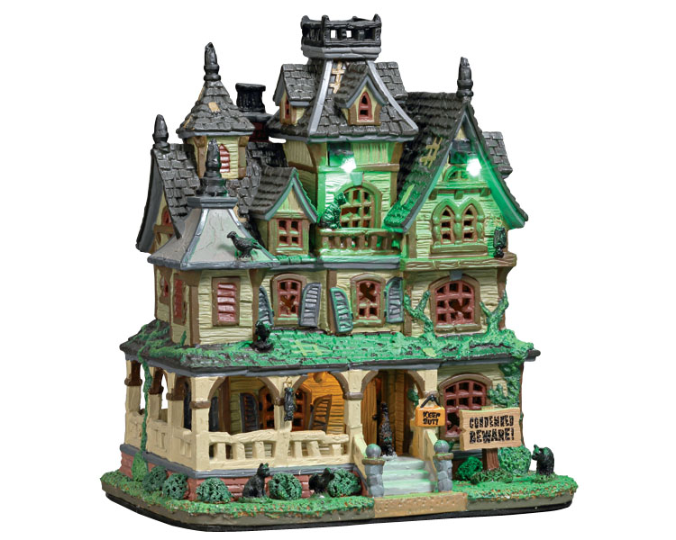 Lemax Spooky Town Haunted Mansion with Adaptor # 75173