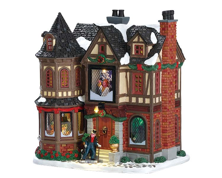Lemax Village Collection Scrooge's Manor with Adaptor # 75191