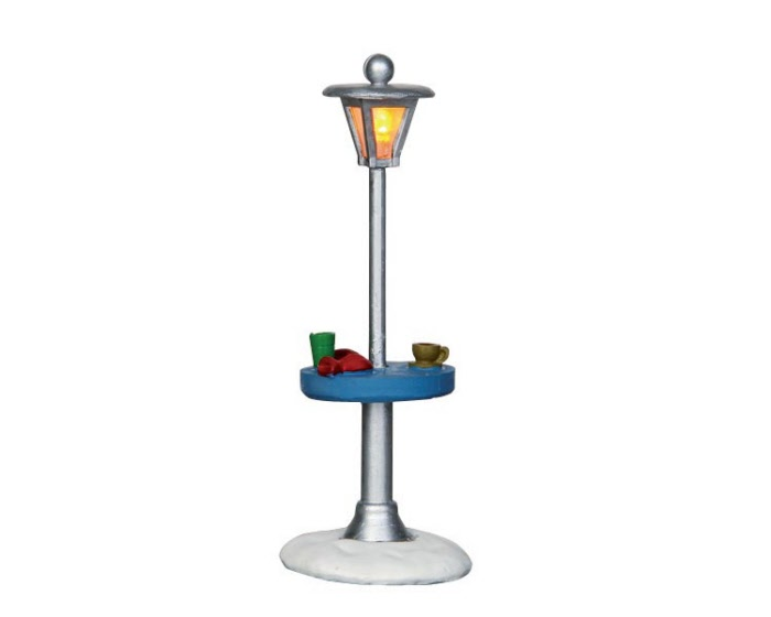 lemax village collection outdoor table heat lamp battery. Black Bedroom Furniture Sets. Home Design Ideas