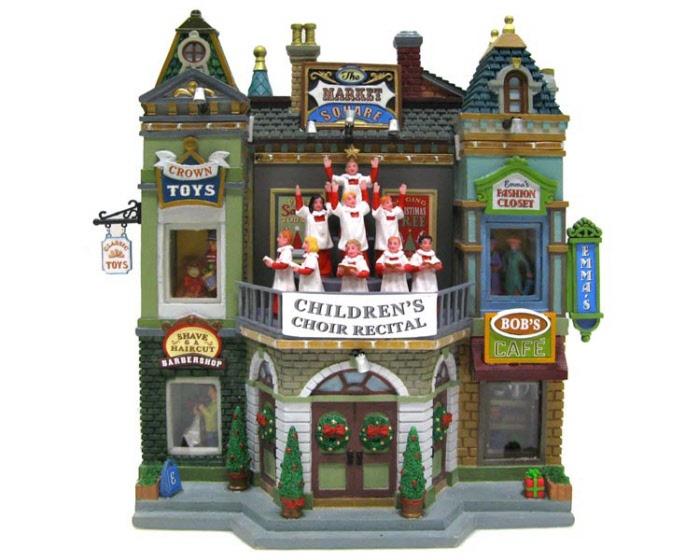 Market Square Christmas Celebration Facade 35560 Lemax