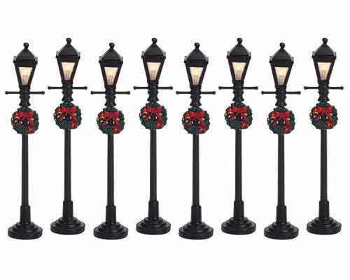 Gas Lantern Street Lamp Set 64500 Lemax Village