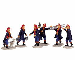 Lemax Village Collection Fireman Set of 6 # 02446