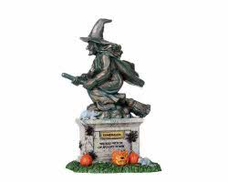 Lemax Spooky Town Witch Statue # 04153