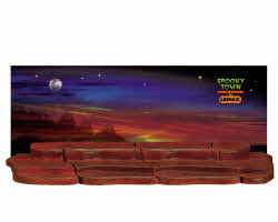 Lemax Spooky Town 4-Foot Display Material With Halloween Backdrop # 04556