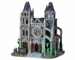Lemax Spooky Town Forgotten Souls Cathedral with Adaptor # 05010