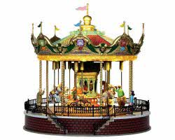 Lemax Village Collection Sunshine Carousel with Adaptor # 14325