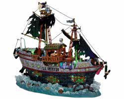 Lemax Spooky Town S.S. Specter with  Adapator # 15210