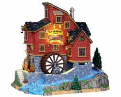 Lemax Village Collection Anderson Valley Mill With Adaptor # 15248