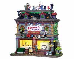 Lemax Spooky Town Fright and Fold Laundromat with Adaptor # 25332