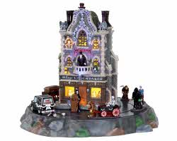 Lemax Spooky Town Village Undertaker Set of 9 with Adaptor # 25335