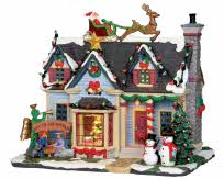 Lemax Village Collection Best Decorated House With Adaptor # 25337
