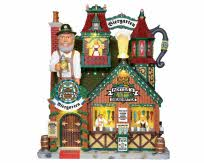 Lemax Village Collection Hoffer's Biergarten Facade Battery Operated # 25413