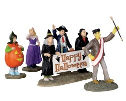 Lemax Spooky Town Halloween Parade Banner Set of 5 # 32115