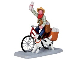 Lemax Village Collection Cowboy Paperboy # 32143