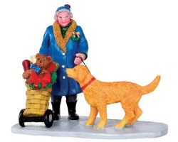 Lemax Village Collection Shopping Grandma # 32153