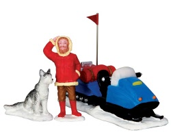 Lemax Village Collection Snowmobile Adventure Set of 3 # 32163
