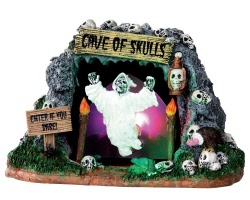 Lemax Spooky Town Cave Of Skulls Battery Operated # 34602