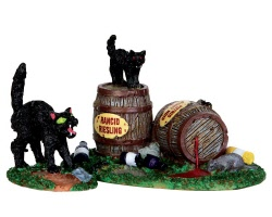 Lemax Spooky Town Wine Barrels Set of 2 # 34611