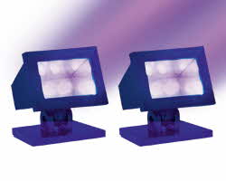 Lemax Spooky Town Halloween Purple Light Set of 2 # 34974