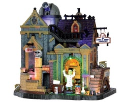 Lemax Spooky Town Dr. Gloom N. Doom's Laboratory with Adaptor # 35493