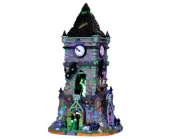 Lemax Spooky Town Haunted Clock Tower with Adaptor # 35531