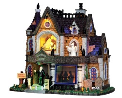 Lemax Spooky Town Crowley Hall with Adaptor # 35552