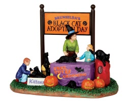 Lemax Spooky Town Black Cat Adoption # 43067