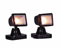 Lemax Village Collection Spot Light - Clear Set of 2 # 44243