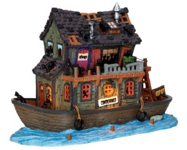 Lemax Spooky Town Haunted Houseboat with Adaptor # 45666