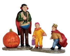 Lemax Spooky Town Scaring Trick Or Treaters Set of 2 # 52314