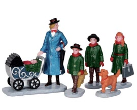 Lemax Village Collection Nanny Outing Set of 5 # 52334