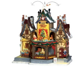 Lemax Village Collection Holiday Hamlet Christmas Shoppe with Adaptor # 55026