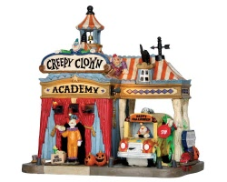 Lemax Spooky Town Creepy Clown Academy with Adaptor # 55905
