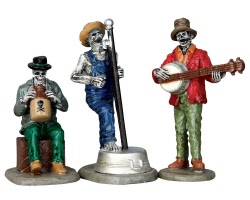 Lemax Spooky Town Jeeperscreeper's Jugband Set of 3 # 62421