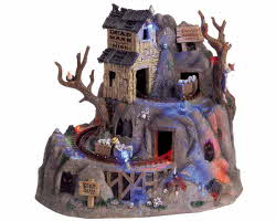 Lemax Spooky Town Dead Man's Mine with Adaptor # 64424