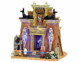 Lemax Spooky Town Cursed Tomb with Adaptor # 75500
