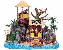 Lemax Spooky Town Pirates' Hideout with Adaptor # 84764