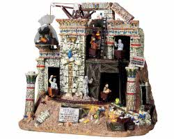 Lemax Spooky Town Doomed Temple with Adaptor # 94959