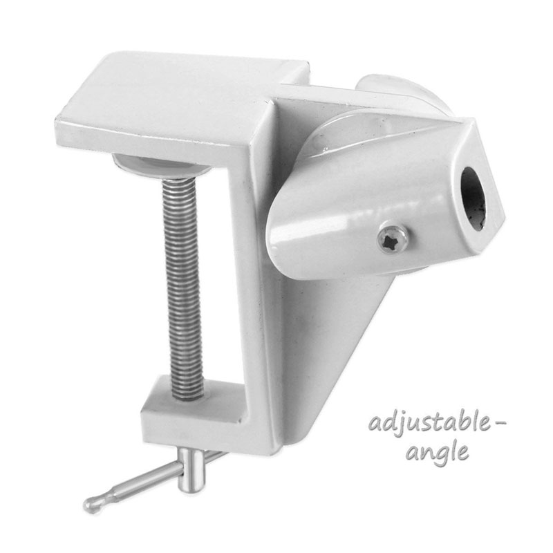 Adjustable Clamp For A Magnifier Lamp White