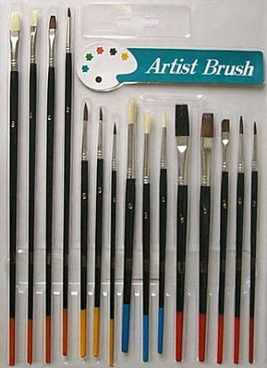 Artist Brushes 15 Piece Set