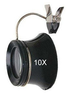 Jewelers Eye Loupe for Glasses 10X