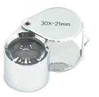 Chrome 30X Round 21mm Loupe