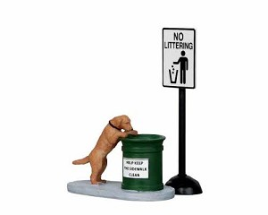 Lemax Village Collection No Littering Set of 2 # 14364