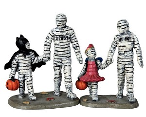 Lemax Spooky Town Trick Or Treating With Mummy And Deady Set of 2 # 62423