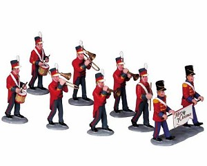 Lemax Village Collection Christmas Parade Marching Band Set of 8 # 93766